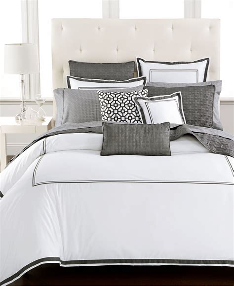 macy s bed linens hotel collection embroidered frame bedding collection