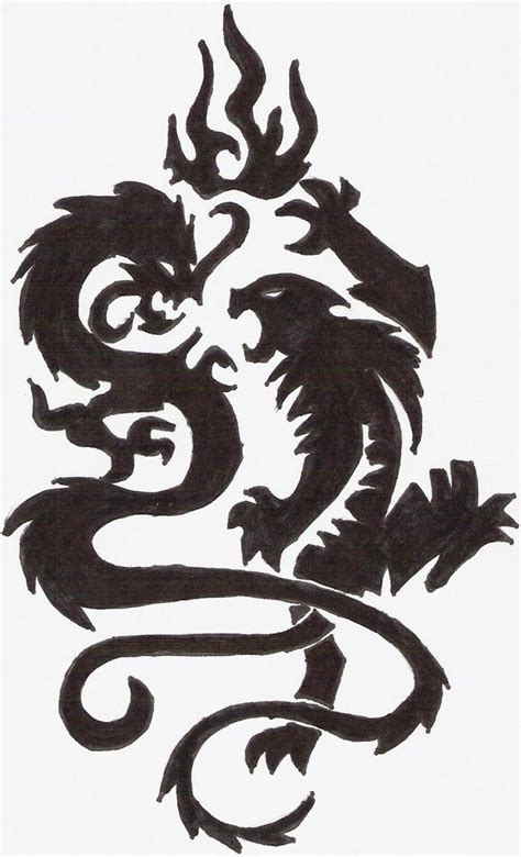dragon and tiger tattoo designs silhouette tiger design