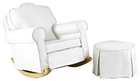 Upholstered Rocking Chair And Ottoman pre owned upholstered rocking chair and ottoman style rocking chairs by chairish