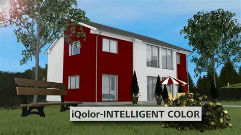 rote fassadenfarbe iqolor intelligent color die intelligenten fassadenfarben