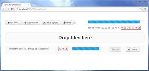 aspnet multiple file upload  drag drop  progress