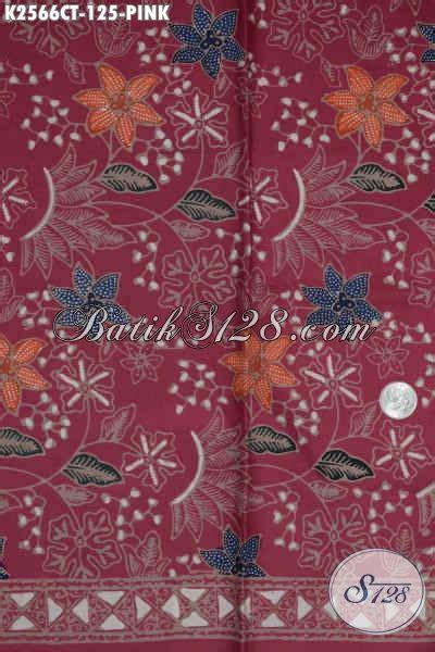 Kain Batik Pink juragan batik sedia kain batik modern warna pink