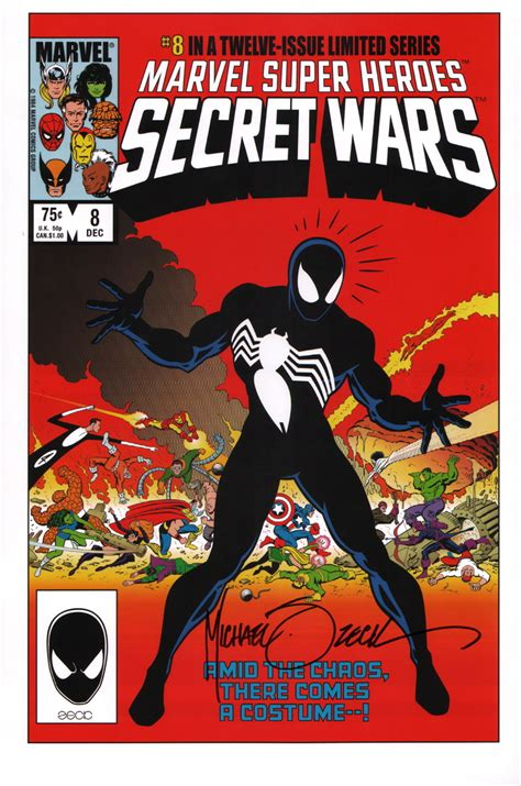 libro secret wars secret wars mike zeck signed secret wars 8 art print