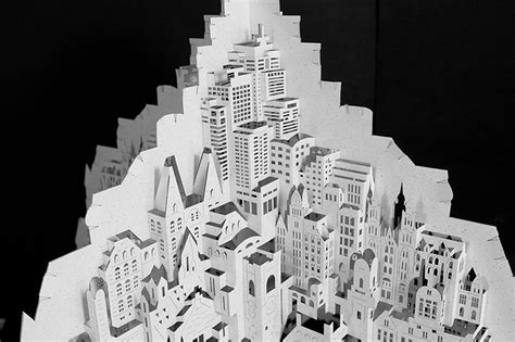 Ingrid Siliakus by Paper Architecture Ingrid Siliakus Carves Architectural
