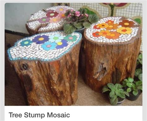repurposing tree trunks or stumps green eco services tree stump mosaic trusper