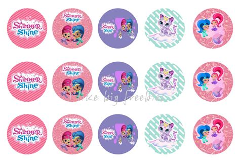 Shimmer For In This New Like Label by Freebies Shimmer And Shine Bottlecap Images For Hair Bows
