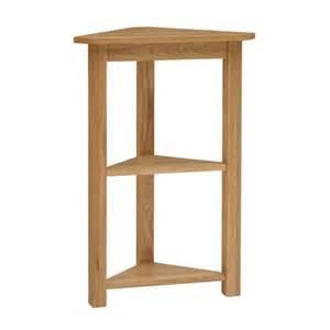 Wooden Bookcases Unfinished Rivermead Oak Corner Shelf Unit Including Free Delivery