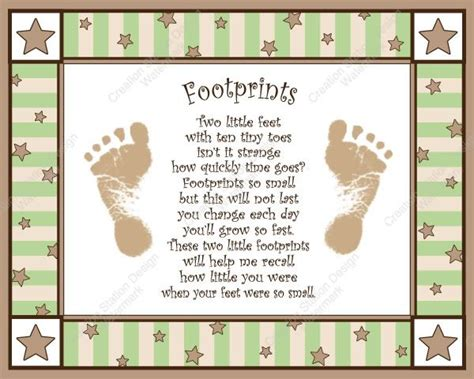 baby s s day poem baby footprint poems