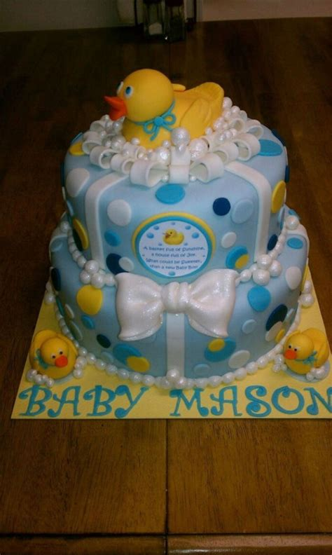 Rubber Duckie Baby Shower Cake rubber duckie baby shower cake cakecentral