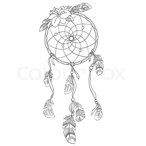 dreamcatcher template dreamcatcher vectorillustration stock vector colourbox