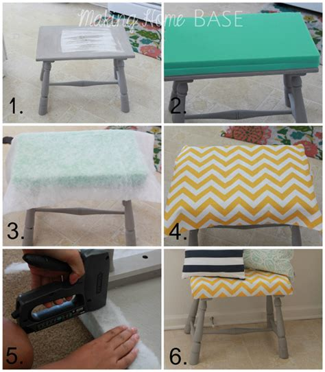 diy footstool ottoman upholstered foot stool a diy tutorial