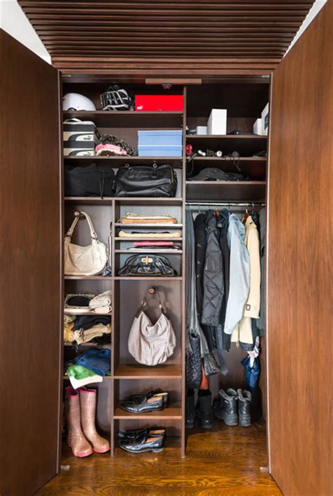 custom foyer closet contemporary closet  york