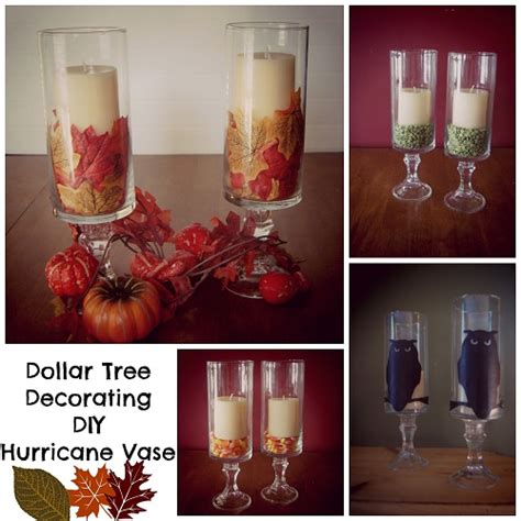 diy dollar tree home decor hurricane vase diy bargainbriana
