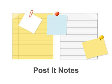 Post It Notes Editable Ppt Slides Editable Post It Note Template