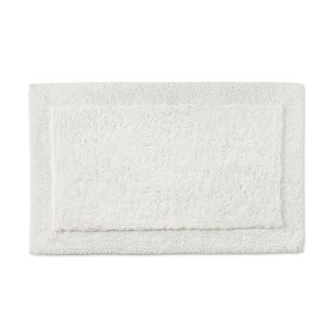 White Bath Mat by Chambers 174 Border Bath Mat White Williams Sonoma