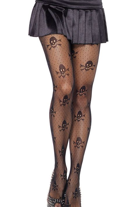 patterned nylon tights sexy stockings net skull stretch pantyhose free shipping