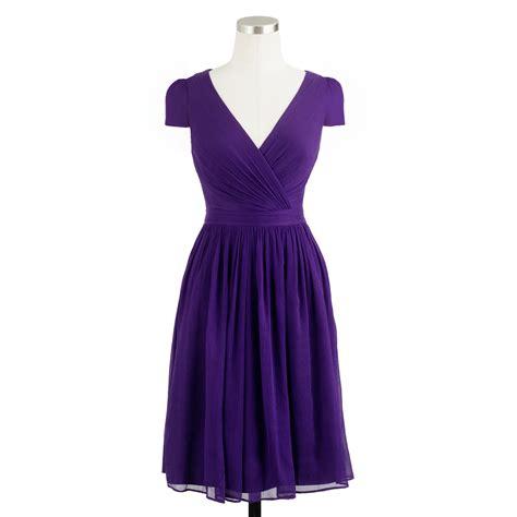 Dress Mirabelle j crew mirabelle dress in silk chiffon in purple lyst