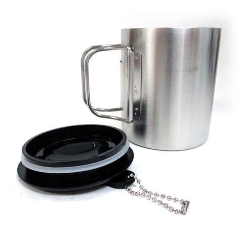coffee mug handle travel coffee mug stainless steel lid tea drink tea cup