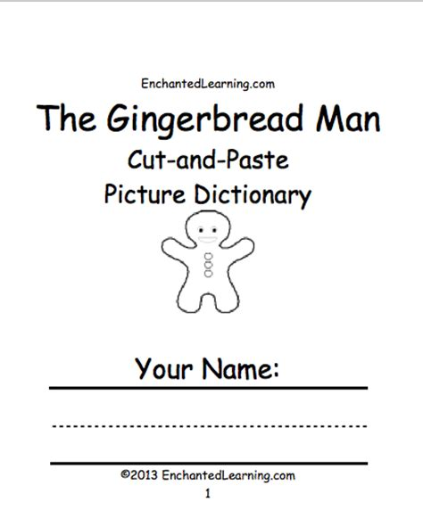 preschool gingerbread man printable book the gingerbread man enchantedlearning com