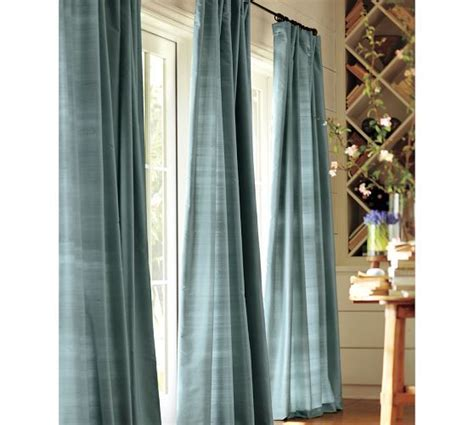 Dining Room Curtains Pottery Barn Dupioni Silk Drape Pottery Barn Master Bedroom