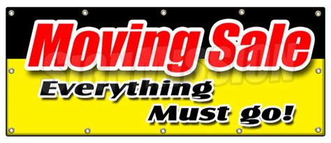 Moving Sale At Makeupcom by 48 Quot X120 Quot Moving Sale Everything Must Go Banner Sign Lost