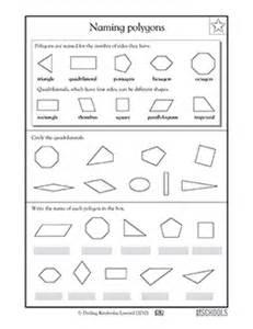 3rd grade 4th grade math worksheets naming polygons