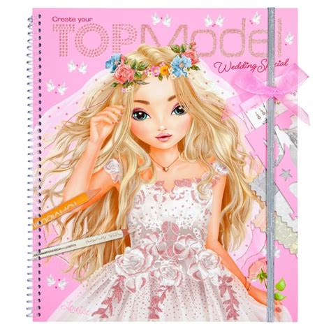 Top Model Wedding Design Book by Create Your Topmodel Wedding Special Colouring Book Top