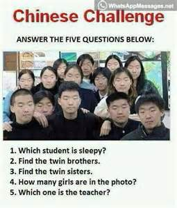 challenge just answer these 5 questions