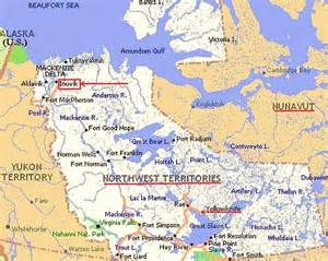 map of northwest territory canada ultima thule inuvik on the mackenzie delta northwest