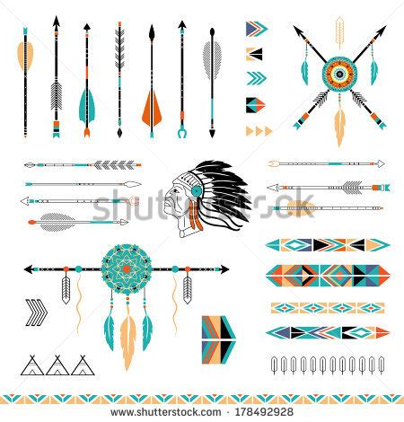aztec arrow tattoo american stock photos images pictures