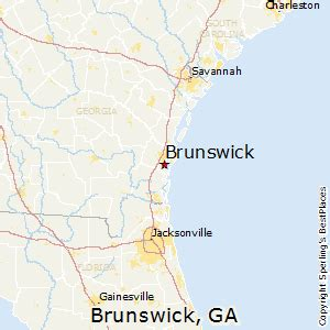 glynco map best places to live in brunswick