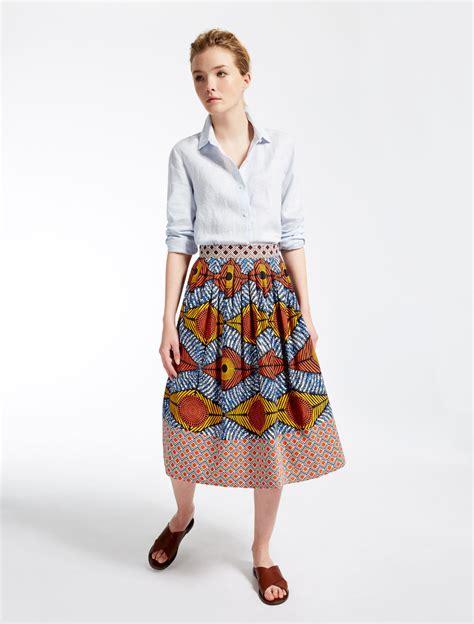 Maxmara Teratai 1 cotton poplin skirt yellow weekend max mara