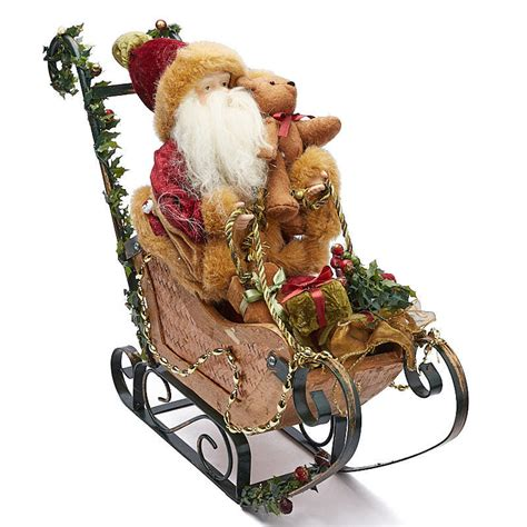 santa s sleigh table decoration table decor christmas