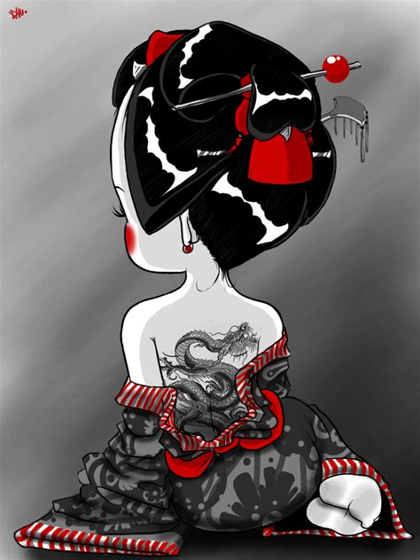 geisha tattoo wallpaper geisha tattoo by azufiel on deviantart