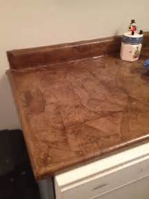 brown paper bag countertop stained diy