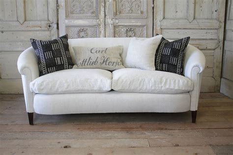 english style sofa vintage english style upholstered sofa in belgian linen at