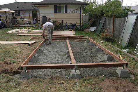 Shed Foundation Plans