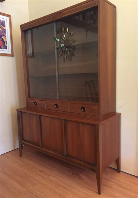 mid century modern china cabinet mid century modern walnut china cabinet by basic witz epoch