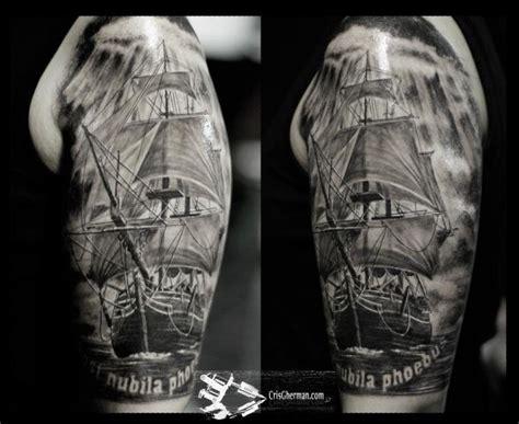 black galleon tattoo studio in king s lynn the tattoo shoulder realistic galleon tattoo by chris gherman