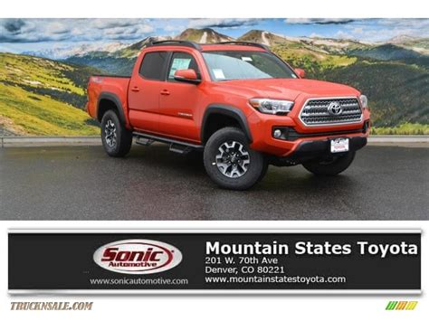 Mtn States Toyota 2016 Toyota Tacoma Trd Road Cab 4x4 In Inferno
