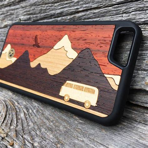 cross country handmade padauk maple wood iphone  case  keyway