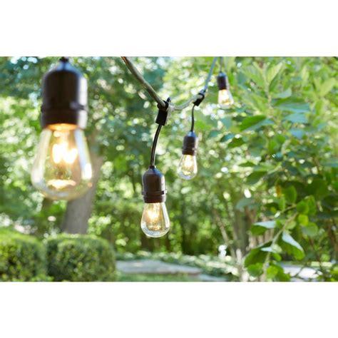 hd designs outdoors string lights hton bay 48 ft 24 socket incandescent string light set