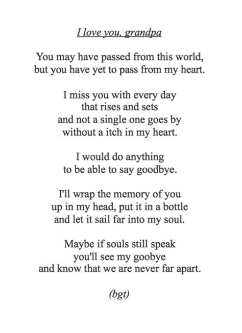 grandfather quotes passed away