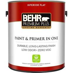home depot 5 gallon interior paint behr premium plus 1 gal ultra white flat zero voc