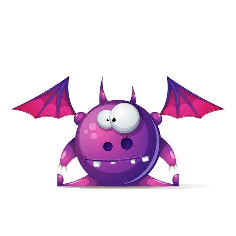 funny cute cartoon monster characters