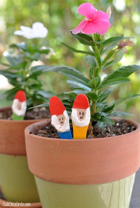 garden gnome craft sticks diy skip   lou