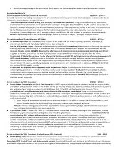 Sox Auditor Sle Resume by Financial Auditing Resume