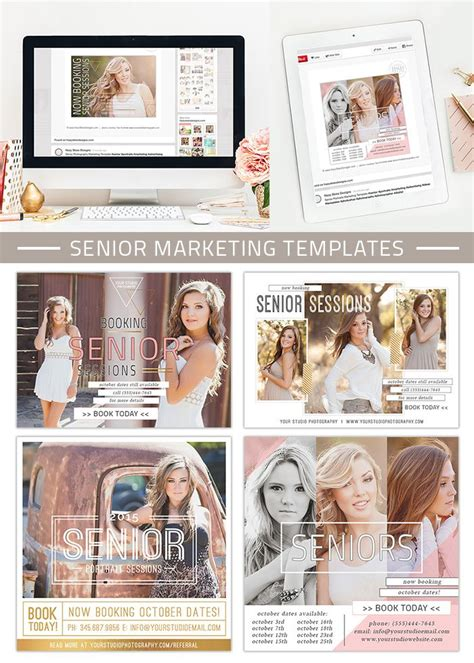 Senior Marketing Templates Covergirl Collection Advertising Advertising Ideas And Senior Free Email Templates For Portrait Photographers