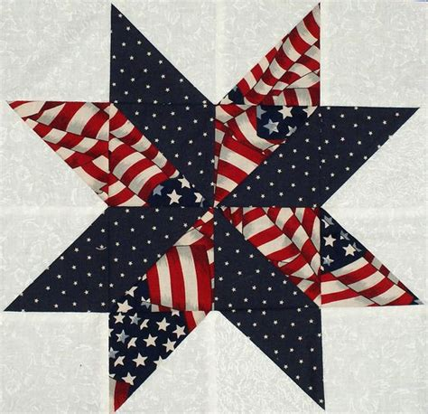 Shooting Quilt Pattern by Starflower Quilt Blocks Patriotic Flag And Prints