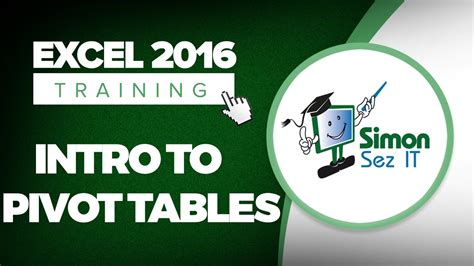 excel 2016 pivot table tutorial introduction to pivot tables in microsoft excel 2016
